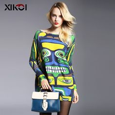 Hot Item $21.17, Buy 2017 New Winter Full Long Women Sweater Clothing Casual Novelty Women's Sweaters Pullovers Fashion Print Ladies Pullover Clothes