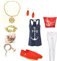 """""""sailor outfit"""" by kyara21 on Polyvore"""