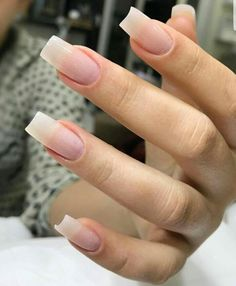Fake nails french, long natural nails, classy nails, cute nails, hair b Frensh Nails, French Manicure Acrylic Nails, Cute Acrylic Nails, Cute Nails, Pretty Nails, Long Natural Nails, Long Nails, Wedding Nail Polish, Nagel Hacks