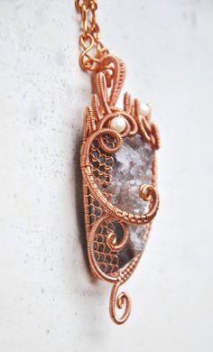 Purple druzy pendant, wire wrapped jewelry handmade, gemstone jewelry , gemstone necklace