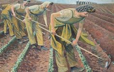 Evelyn Dunbar: Singling Turnips. Dunbar was a war artist during the Second World War.
