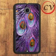 Purple Feather Peacock Nexus 5,Nexus 6,Nexus 7 Case