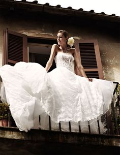 Italian Wedding #white #wedding #dress - this seems a dolce and gabbana ad! love