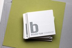Letterpress business card on museum board - oblation papers and press