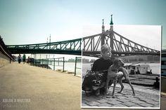 Budapest, V. Pesti alsó rakpart, háttérben a Szabadság híd, Házy Erzsébet operaénekes fortepan_18473