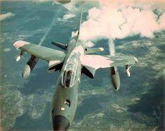 USAF F-105 Thunderchief over Cambodia, 1973.