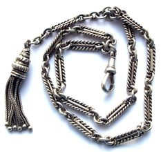 Victorian Silver Albertina Bracelet & Tassel Charm 1876