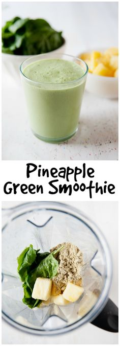 This delicious pineapple green smoothie recipe will help you drink your daily greens without the leafy taste.