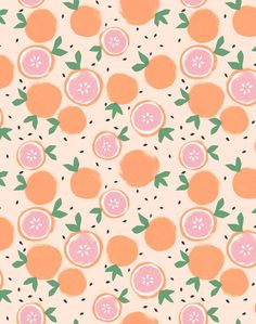 'Grapefruit' Wallpaper by Tea Collection - Peach - Removable Panel