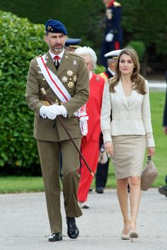 Princess Letizia - Spanish Royals Attend the Flag Ceremony in Madrid