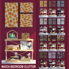Sims 4 CC's - The Best: Maica Bedroom Clutter by pqSim4