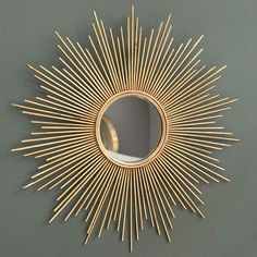 House Wishlist - Living Room, MAGELLAN metal mirror in gold H 99cm, maisonsdumonde.com, 139.90£