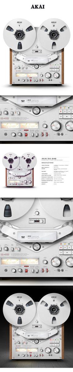 The Akai GX-646 - www.remix-numerisation.fr - Rendez vos souvenirs durables ! - Numérisation Transfert Duplication Sauvegarde de votre patrimoine audio et vidéo familial