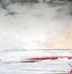 Wachsmann | abstrakte landschaft weiß - Amore