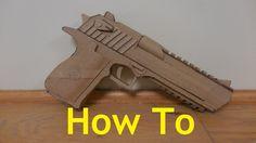 How to make my Cardboard Mark XIX Desert Eagle - YouTube
