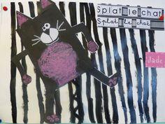 SPLAT Encore et encore… | Quoi de nouveau à l'école Jean Macé ? Splat Le Chat, Trait Vertical, Art Plastique, Halloween, Artwork, Albums, September, Paintings, Education