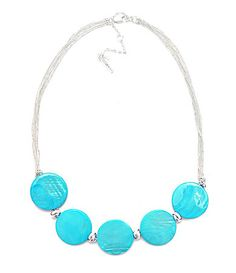 Kenneth Cole NY Urban Seychelles Turquoise Disc Frontal Necklace   Dillards.com