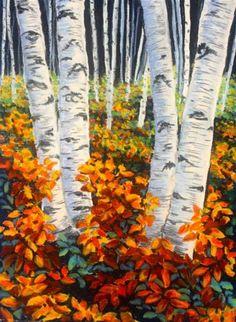"""Color on the Forest Floor"" - Original Fine Art for Sale - © Jill Bates"