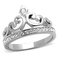 STAINLESS STEEL TIARA CROWN CRYSTAL RING - I've always wanted one of these  ~