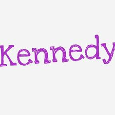 Baby girl name: Kennedy