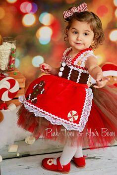Gingerbread Tutu Dress Christmas tutu dress por GlitterMeBaby