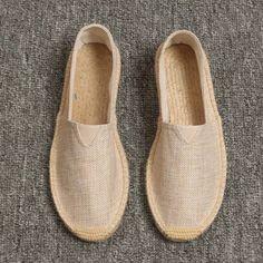 Sock Shoes, Men's Shoes, Flat Shoes, Lino Natural, Natural Linen, Crochet Sandals, Crochet Slippers, Summer Slippers, Mens Slippers