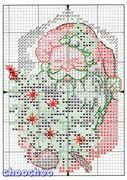 Schematic cross stitch Christmas ornaments first