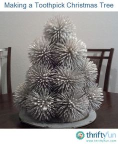 This is a guide about making a toothpick Christmas tree. Make a spiky toothpick Christmas tree decoration for you home.