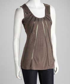 Take a look at this Falcon Sequin Sleeveless Top by Kische on #zulily today!