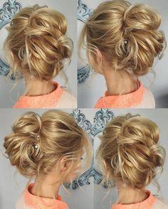 Tonya Pushkareva Long Wedding Hairstyle for Bridal via tonyastylist / http://www.himisspuff.com/long-wedding-hairstyle-ideas-from-tonya-pushkareva/18/
