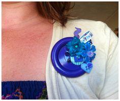 Handmade Button brooch