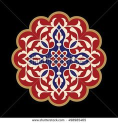 Find Flower Mandala Vintage Decorative Elements Oriental stock images in HD and millions of other royalty-free stock photos, illustrations and vectors in the Shutterstock collection. Islamic Motifs, Islamic Art Pattern, Arabic Pattern, Pattern Art, Pattern Design, Flower Art Drawing, Hand Painted Plates, Oriental Pattern, Motif Floral