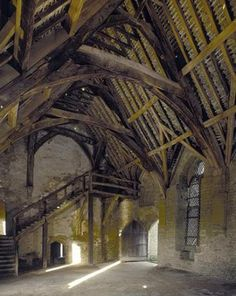 Inside the hall at Stokesay Castle