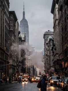 NYC Streets. Empire State Building.