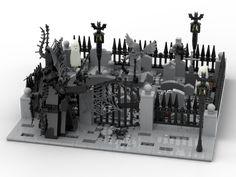 Lego Haunted House, Lego Hogwarts, Lego Halloween, Lego Pictures, Lego People, Lego Room, Lego Worlds, Cool Lego Creations, Lego Design