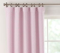 Audrey Chenille Dot Blackout Panel..love that these have the blackout panel for a good night sleep:)
