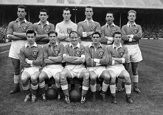 Wales team group in 1957.