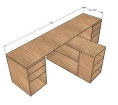 I want to make this!  DIY Furniture Plan from Ana-White.com  This free simple step by step Do It Yourself Project Plan shows you how to use PureBond Formaldehyde Free plywood to create a desktop system - vma.