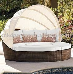 wunderbare loungem bel rattan f r drau en garten pinterest rattan. Black Bedroom Furniture Sets. Home Design Ideas