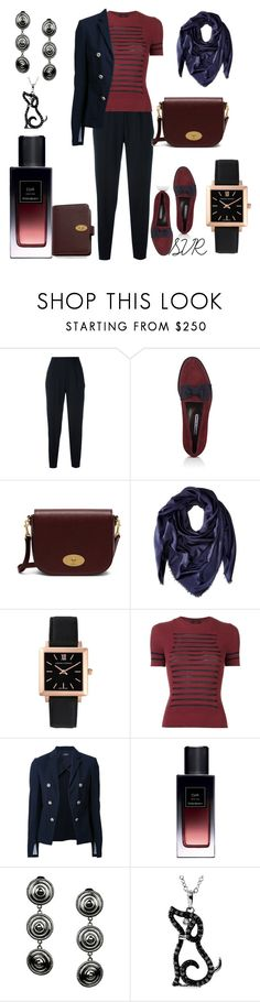 """Bardo"" by svrrvs ❤ liked on Polyvore featuring Christopher Kane, Manolo Blahnik, Mulberry, Salvatore Ferragamo, Larsson & Jennings, Jean-Paul Gaultier, Theory and Yves Saint Laurent"
