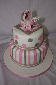 Baby Shower Cake - www.suikerbekkie.co.za Baby Shower Cakes, Desserts, Food, Cakes Baby Showers, Tailgate Desserts, Deserts, Essen, Postres, Meals