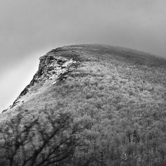 Ghost of The Old Man of the Mountain, Franconia Notch, New Hampshire.