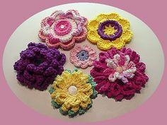 crocheted fantasy flowers