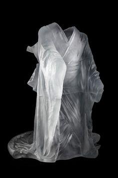 Glass kimono by Karen LaMonte