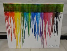 """Melted Crayon Art - from Rachel ("""",) Crayon Ideas, Crayon Art, Eyfs Classroom, Classroom Ideas, Science Projects, Projects To Try, Art For Kids, Crafts For Kids, Early Years Classroom"""