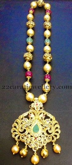 Jewellery Designs: South Sea Pearls Set by Ganesh Jewels