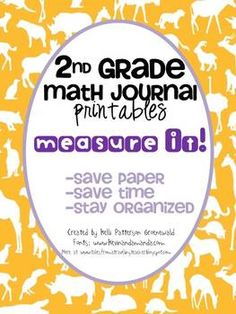 Measurement Printables for 2nd Grade Math Journals