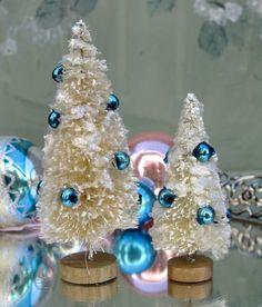 Christmas Bottle Brush Trees