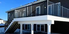 Beautiful, no matter the weather, check out the February 2021 Deck of the Month winner! Composite Deck Railing, Metal Deck Railing, Deck Railing Systems, Deck Balusters, Deck Railing Design, Modern Railing, Deck Design, Hidden Deck Fasteners, Deck Framing