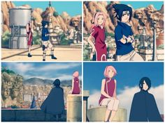 Sasusaku 😍 so happy with these two, they deserve each other, sasuke needs love and sakura's feelings for him was so pure, she waited till the end. from the very beginning of naruto i never lose hope that they'll end up together 😍 Naruto Uzumaki, Anime Naruto, Manga Anime, Naruto And Sasuke, Kakashi, Naruto Family, Naruto Couples, Boruto Naruto Next Generations, Anime Couples